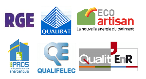 Certifications : RGE, QUALIBAT, ECO artisan, ...